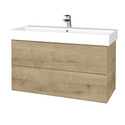 Dřevojas - Koupelnová skříň VARIANTE SZZ2 100 - D09 Arlington / D09 Arlington (262945)