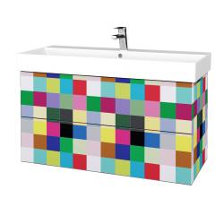 Dřevojas - Koupelnová skříň VARIANTE SZZ2 100 - IND Individual / IND Individual (263010)