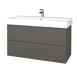 Dřevojas - Koupelnová skříň VARIANTE SZZ2 100 - N06 Lava / N06 Lava (263058)