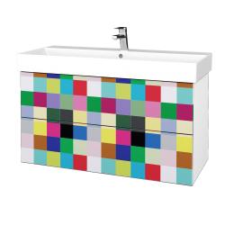 Dřevojas - Koupelnová skříň VARIANTE SZZ2 100 - N01 Bílá lesk / IND Individual (263218)
