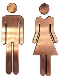 WC označení dámy/páni, pár, ABS/bronz (SB303) - AQUALINE