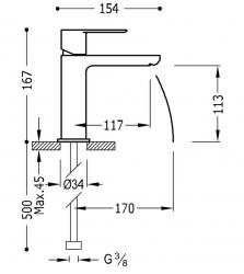 TRES - Jednopáková umyvadlová baterie (20010301BL), fotografie 2/1