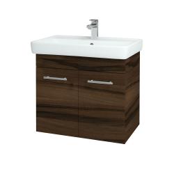 Dřevojas - Koupelnová skříň Q DVEŘOVÉ SZD2 70 - D06 Ořech / Úchytka T02 / D06 Ořech (20586B)
