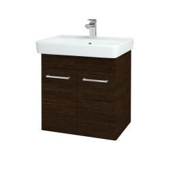 Dřevojas - Koupelnová skříň Q DVEŘOVÉ SZD2 60 - D08 Wenge / Úchytka T04 / D08 Wenge (151645E)