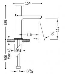 TRES - Jednopáková umyvadlová baterie (20010302RO), fotografie 2/1