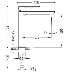 TRES - Jednopáková umyvadlová baterie (20020303BL), fotografie 2/1