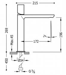 TRES - Jednopáková umyvadlová baterie (20020304RO), fotografie 2/1