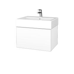 Dřevojas - Koupelnová skříň VARIANTE SZZ 60 - M01 Bílá mat / M01 Bílá mat (263461)