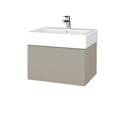 Dřevojas - Koupelnová skříň VARIANTE SZZ 60 - L04 Béžová vysoký lesk / L04 Béžová vysoký lesk (263508)