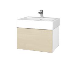 Dřevojas - Koupelnová skříň VARIANTE SZZ 60 - N01 Bílá lesk / D02 Bříza (263553)