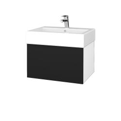 Dřevojas - Koupelnová skříň VARIANTE SZZ 60 - N01 Bílá lesk / N08 Cosmo (263744)