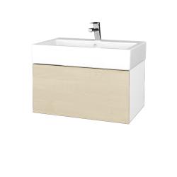 Dřevojas - Koupelnová skříň VARIANTE SZZ 70 - N01 Bílá lesk / D02 Bříza (264024)