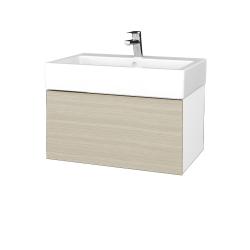 Dřevojas - Koupelnová skříň VARIANTE SZZ 70 - N01 Bílá lesk / D04 Dub (264048)