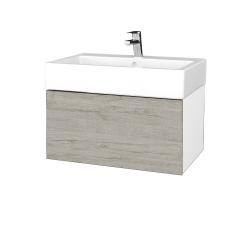 Dřevojas - Koupelnová skříň VARIANTE SZZ 70 - N01 Bílá lesk / D05 Oregon (264055)