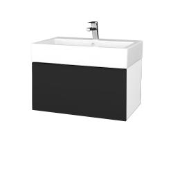 Dřevojas - Koupelnová skříň VARIANTE SZZ 70 - N01 Bílá lesk / L03 Antracit vysoký lesk (264161)