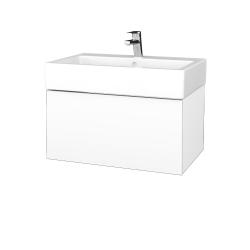 Dřevojas - Koupelnová skříň VARIANTE SZZ 70 - N01 Bílá lesk / L01 Bílá vysoký lesk (264222)