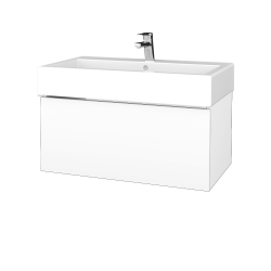 Dřevojas - Koupelnová skříň VARIANTE SZZ 80 - M01 Bílá mat / M01 Bílá mat (264406)