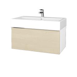 Dřevojas - Koupelnová skříň VARIANTE SZZ 80 - N01 Bílá lesk / D02 Bříza (264499)