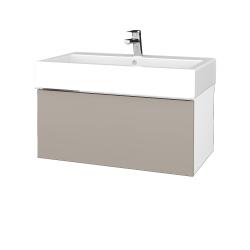 Dřevojas - Koupelnová skříň VARIANTE SZZ 80 - N01 Bílá lesk / N07 Stone (264673)