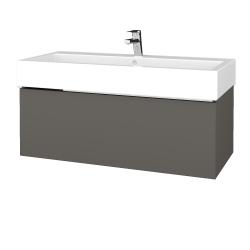 Dřevojas - Koupelnová skříň VARIANTE SZZ 100 - N06 Lava / N06 Lava (264932)
