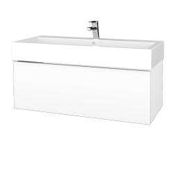 Dřevojas - Koupelnová skříň VARIANTE SZZ 100 - N01 Bílá lesk / M01 Bílá mat (265076)