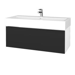 Dřevojas - Koupelnová skříňka VARIANTE SZZ 100 - N01 Bílá lesk / N03 Graphite (265120U)