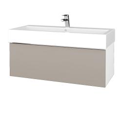 Dřevojas - Koupelnová skříň VARIANTE SZZ 100 - N01 Bílá lesk / N07 Stone (265144)