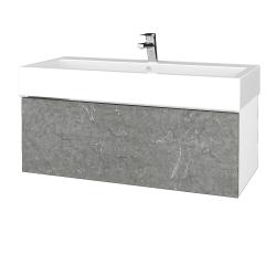 Dřevojas - Koupelnová skříňka VARIANTE SZZ 100 - N01 Bílá lesk / D20 Galaxy (265205U)