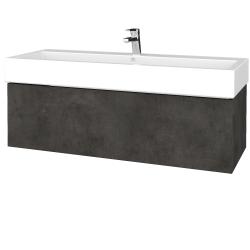 Dřevojas - Koupelnová skříňka VARIANTE SZZ 120 - D16  Beton tmavý / D16 Beton tmavý (265328U)