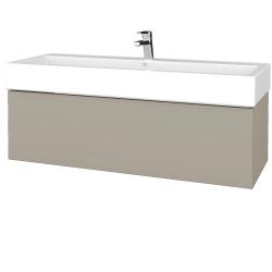 Dřevojas - Koupelnová skříňka VARIANTE SZZ 120 - L04 Béžová vysoký lesk / L04 Béžová vysoký lesk (265380U)