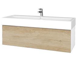 Dřevojas - Koupelnová skříňka VARIANTE SZZ 120 - N01 Bílá lesk / D15 Nebraska (265519U)