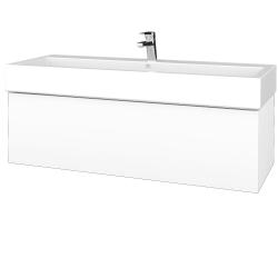 Dřevojas - Koupelnová skříňka VARIANTE SZZ 120 - N01 Bílá lesk / M01 Bílá mat (265540U)