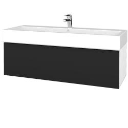 Dřevojas - Koupelnová skříň VARIANTE SZZ 120 - N01 Bílá lesk / L03 Antracit vysoký lesk (265571)