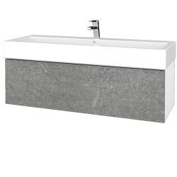 Dřevojas - Koupelnová skříňka VARIANTE SZZ 120 - N01 Bílá lesk / D20 Galaxy (265670U)