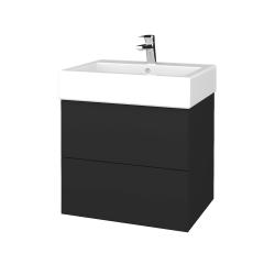 Dřevojas - Koupelnová skříň VARIANTE SZZ2 60 - N03 Graphite / N03 Graphite (265861)