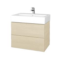 Dřevojas - Koupelnová skříňka VARIANTE SZZ2 70 - D02 Bříza / D02 Bříza (266172)