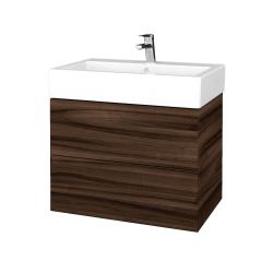 Dřevojas - Koupelnová skříňka VARIANTE SZZ2 70 - D06 Ořech / D06 Ořech (266219)