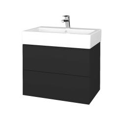 Dřevojas - Koupelnová skříňka VARIANTE SZZ2 70 - N03 Graphite / N03 Graphite (266332)