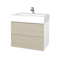 Dřevojas - Koupelnová skříňka VARIANTE SZZ2 70 - N01 Bílá lesk / D04 Dub (266394)
