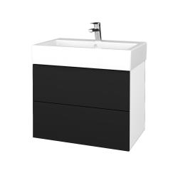 Dřevojas - Koupelnová skříňka VARIANTE SZZ2 70 - N01 Bílá lesk / N08 Cosmo (266561)
