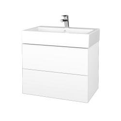 Dřevojas - Koupelnová skříňka VARIANTE SZZ2 70 - N01 Bílá lesk / L01 Bílá vysoký lesk (266578)