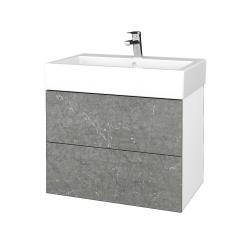 Dřevojas - Koupelnová skříňka VARIANTE SZZ2 70 - N01 Bílá lesk / D20 Galaxy (266615)