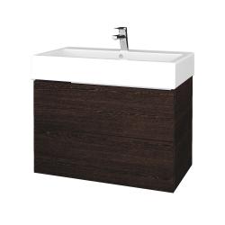 Dřevojas - Koupelnová skříň VARIANTE SZZ2 80 - D08 Wenge / D08 Wenge (266691)