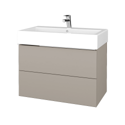 Dřevojas - Koupelnová skříň VARIANTE SZZ2 80 - N07 Stone / N07 Stone (266820)