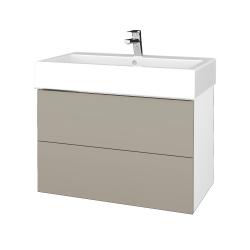 Dřevojas - Koupelnová skříň VARIANTE SZZ2 80 - N01 Bílá lesk / M05 Béžová mat (266967)