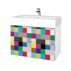 Dřevojas - Koupelnová skříň VARIANTE SZZ2 80 - N01 Bílá lesk / IND Individual (266974)