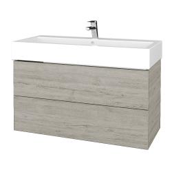 Dřevojas - Koupelnová skříň VARIANTE SZZ2 100 - D05 Oregon / D05 Oregon (267148)