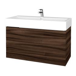 Dřevojas - Koupelnová skříňka VARIANTE SZZ2 100 - D06 Ořech / D06 Ořech (267155U)