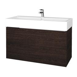 Dřevojas - Koupelnová skříň VARIANTE SZZ2 100 - D08 Wenge / D08 Wenge (267162)