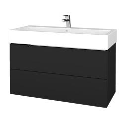Dřevojas - Koupelnová skříňka VARIANTE SZZ2 100 - L03 Antracit vysoký lesk / L03 Antracit vysoký lesk (267254U)